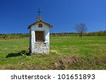 Small Chapel In Rural Landscap...