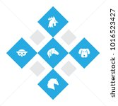 set of 5 zoology icons set.... | Shutterstock .eps vector #1016523427