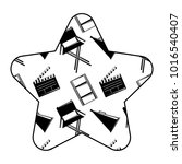 label star with film movie...   Shutterstock .eps vector #1016540407