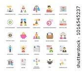 project management vector... | Shutterstock .eps vector #1016545237