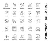 line icons project management... | Shutterstock .eps vector #1016551453