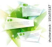 Three Green Vector Banners