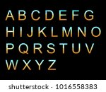 vector alphabet set geometric... | Shutterstock .eps vector #1016558383