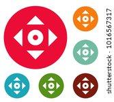cursor displacement app icons... | Shutterstock .eps vector #1016567317