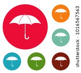 umbrella icons circle set... | Shutterstock .eps vector #1016567563