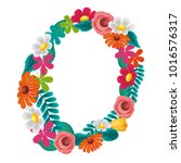 round floral flowers... | Shutterstock .eps vector #1016576317