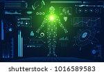 abstract technology ui... | Shutterstock .eps vector #1016589583