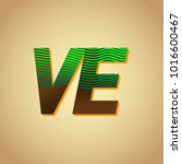 initial letter logo ve colored... | Shutterstock .eps vector #1016600467