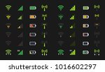 wifi level icons  signal... | Shutterstock .eps vector #1016602297