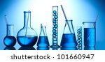 test tubes with blue liquid on... | Shutterstock . vector #101660947