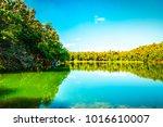 beautiful lake scene outdoor... | Shutterstock . vector #1016610007