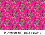 design gift wrapping paper ... | Shutterstock . vector #1016616043