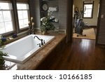 luxurious bathroom with a...   Shutterstock . vector #10166185