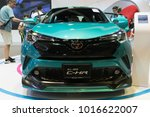 Small photo of SINGAPORE - JANUARY 14, 2018: Toyota CHR at motorshow in Singapore.