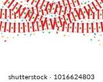 lebanon flags garland white... | Shutterstock .eps vector #1016624803