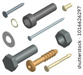 set of different fasteners... | Shutterstock . vector #1016626297