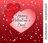 valentine's day greeting card.... | Shutterstock .eps vector #1016641663