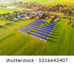 aerial view of solar power... | Shutterstock . vector #1016642407