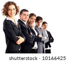 leader and her team  young... | Shutterstock . vector #10166425