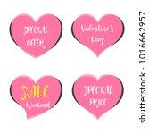 cute sticker happy valentine's... | Shutterstock .eps vector #1016662957