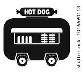 hot dog shop trailer icon.... | Shutterstock . vector #1016690113