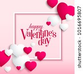 love and valentine day card... | Shutterstock .eps vector #1016695807