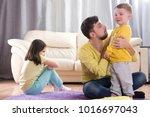 sibling relationship. quarrels... | Shutterstock . vector #1016697043