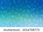 light blue  green vector... | Shutterstock .eps vector #1016708773