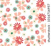 small floral pattern. cute... | Shutterstock .eps vector #1016716957