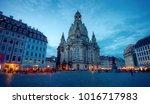 dresden frauenkirche church in... | Shutterstock . vector #1016717983