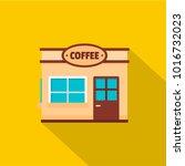 coffee trade icon. flat... | Shutterstock . vector #1016732023