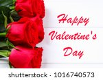 card for valentines day with... | Shutterstock . vector #1016740573