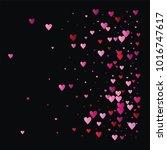 hearts confetti vector... | Shutterstock .eps vector #1016747617