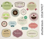 set of vector labels and... | Shutterstock .eps vector #101674927