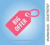 big offer tag. red color.... | Shutterstock .eps vector #1016750767
