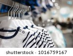 children's clothes on the... | Shutterstock . vector #1016759167