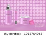 cosmetic container with... | Shutterstock .eps vector #1016764063