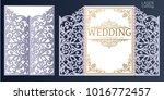 laser cut wedding invitation... | Shutterstock .eps vector #1016772457
