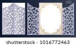 laser cut wedding invitation... | Shutterstock .eps vector #1016772463