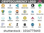 set of cryptocurrency icon...