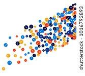 vector confetti background... | Shutterstock .eps vector #1016792893