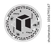 crypto currency black coin with ... | Shutterstock .eps vector #1016795167