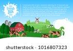 vector milk illustration with... | Shutterstock .eps vector #1016807323