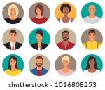 people avatars collection | Shutterstock .eps vector #1016808253
