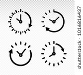 set of time and watch logo icon....