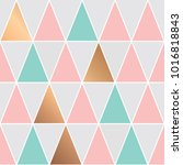 seamless pattern design with... | Shutterstock .eps vector #1016818843