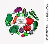 vegetable flat icon. vegetable... | Shutterstock .eps vector #1016836927