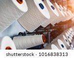 rolls of industrial cotton... | Shutterstock . vector #1016838313