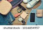 women's trendy accessories ... | Shutterstock . vector #1016854957