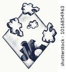 logic tattoo and t shirt design | Shutterstock .eps vector #1016854963